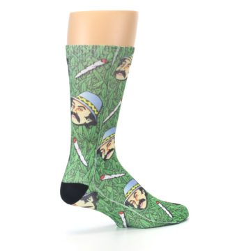 Image of Green Cheech and Chong Men's Casual Socks (side-1-23)
