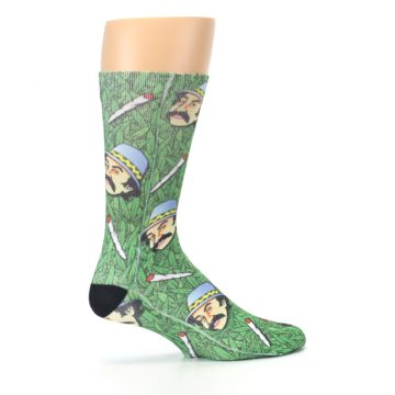 Image of Green Cheech and Chong Men's Casual Socks (side-1-24)