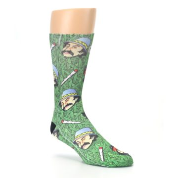 Image of Green Cheech and Chong Men's Casual Socks (side-1-27)