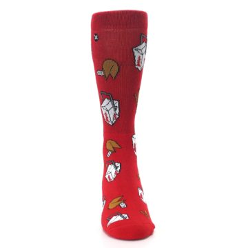 Image of Red Chinese Take Out Food Men's Casual Socks (front-04)