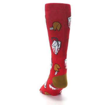 Image of Red Chinese Take Out Food Men's Casual Socks (back-17)