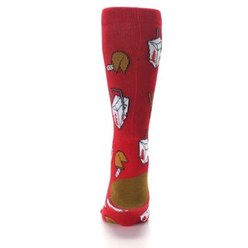 Image of Red Chinese Take Out Food Men's Casual Socks (back-18)