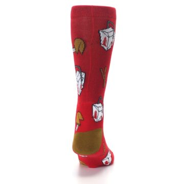 Image of Red Chinese Take Out Food Men's Casual Socks (back-19)
