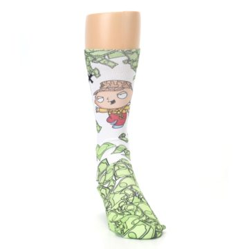Image of Family Guy Stewie and Brian Dollars Men's Casual Socks (side-1-front-03)