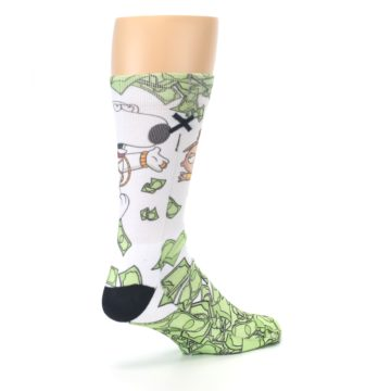 Image of Family Guy Stewie and Brian Dollars Men's Casual Socks (side-1-back-22)
