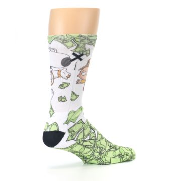 Image of Family Guy Stewie and Brian Dollars Men's Casual Socks (side-1-23)