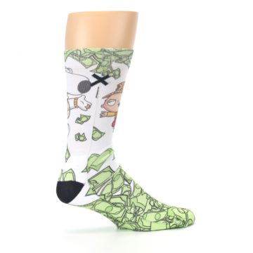 Image of Family Guy Stewie and Brian Dollars Men's Casual Socks (side-1-24)