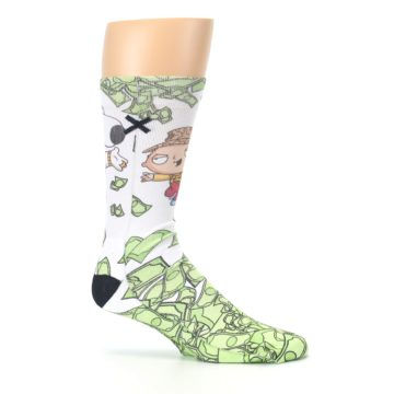 Image of Family Guy Stewie and Brian Dollars Men's Casual Socks (side-1-25)