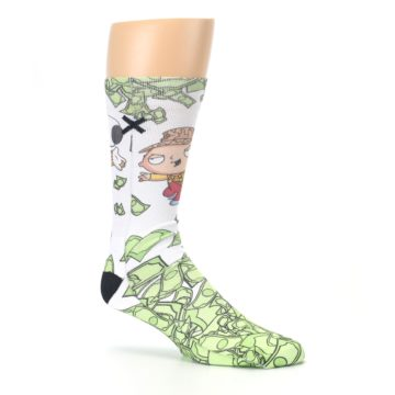 Image of Family Guy Stewie and Brian Dollars Men's Casual Socks (side-1-26)