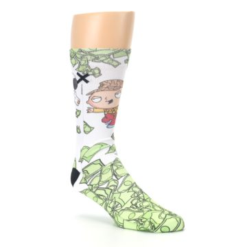 Image of Family Guy Stewie and Brian Dollars Men's Casual Socks (side-1-27)