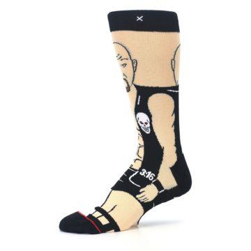 Image of Black Stone Cold Steve Austin Men's Casual Socks (side-2-10)