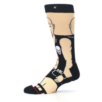 Image of Black Stone Cold Steve Austin Men's Casual Socks (side-2-11)