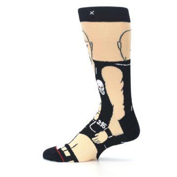 Image of Black Stone Cold Steve Austin Men's Casual Socks (side-2-12)