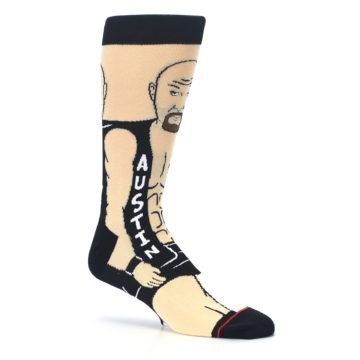 Image of Black Stone Cold Steve Austin Men's Casual Socks (side-1-26)