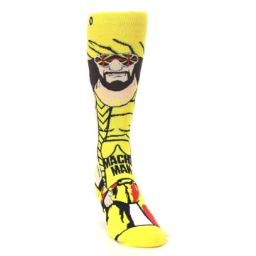 Image of Yellow Red Randy Savage Men's Casual Socks (side-1-front-03)