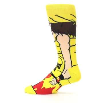 Image of Yellow Red Randy Savage Men's Casual Socks (side-2-12)