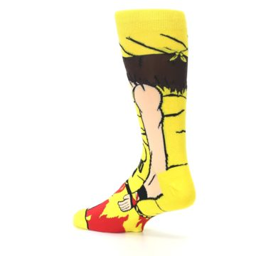 Image of Yellow Red Randy Savage Men's Casual Socks (side-2-back-14)