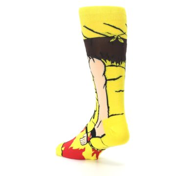 Image of Yellow Red Randy Savage Men's Casual Socks (side-2-back-15)