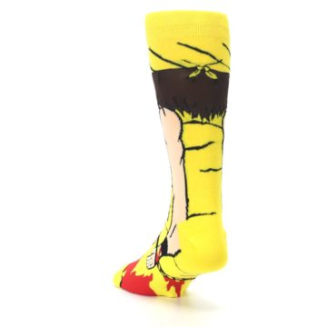 Image of Yellow Red Randy Savage Men's Casual Socks (side-2-back-16)