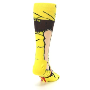 Image of Yellow Red Randy Savage Men's Casual Socks (side-1-back-20)