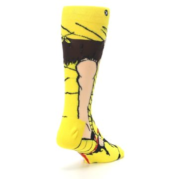 Image of Yellow Red Randy Savage Men's Casual Socks (side-1-back-21)