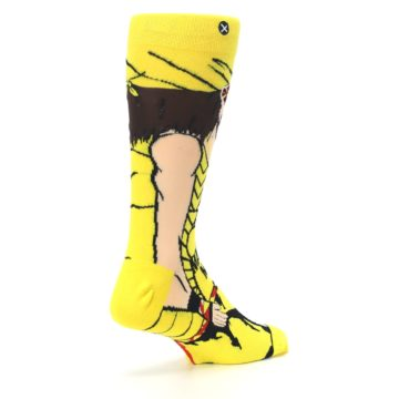 Image of Yellow Red Randy Savage Men's Casual Socks (side-1-back-22)