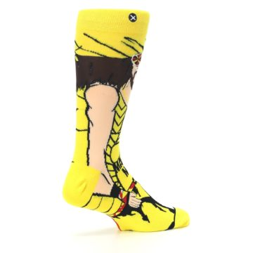 Image of Yellow Red Randy Savage Men's Casual Socks (side-1-23)