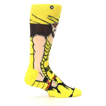 Image of Yellow Red Randy Savage Men's Casual Socks (side-1-24)