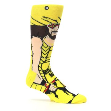 Image of Yellow Red Randy Savage Men's Casual Socks (side-1-25)