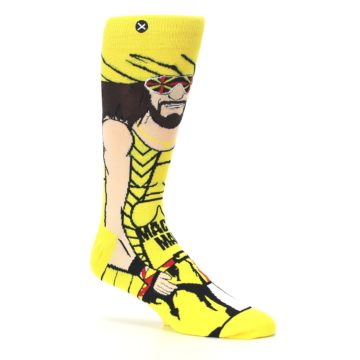 Image of Yellow Red Randy Savage Men's Casual Socks (side-1-26)