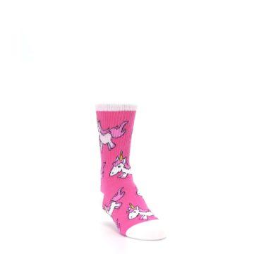 Image of Pink Unicorns Kid's Dress Socks (side-1-front-02)
