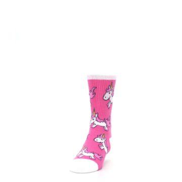 Image of Pink Unicorns Kid's Dress Socks (side-2-front-06)