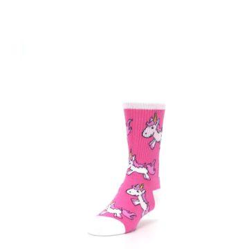 Image of Pink Unicorns Kid's Dress Socks (side-2-front-07)