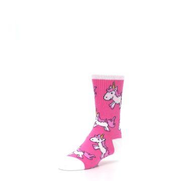 Image of Pink Unicorns Kid's Dress Socks (side-2-front-08)