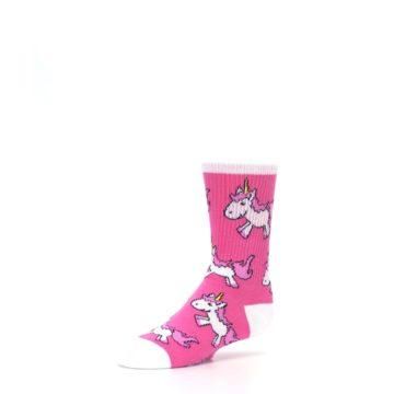 Image of Pink Unicorns Kid's Dress Socks (side-2-09)