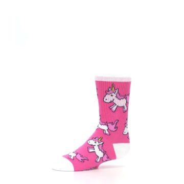 Image of Pink Unicorns Kid's Dress Socks (side-2-10)