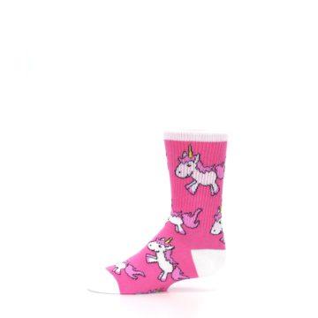 Image of Pink Unicorns Kid's Dress Socks (side-2-11)