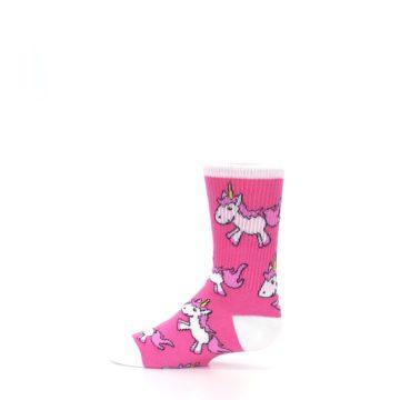 Image of Pink Unicorns Kid's Dress Socks (side-2-12)