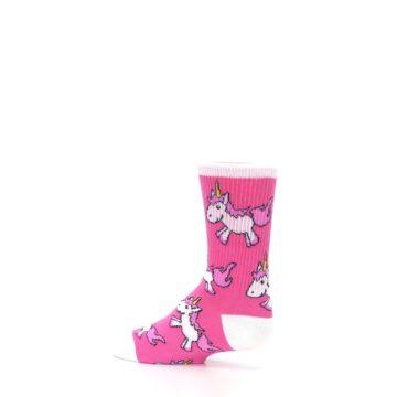 Image of Pink Unicorns Kid's Dress Socks (side-2-13)