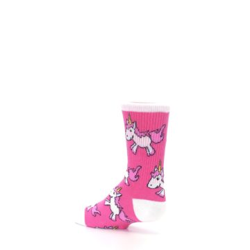 Image of Pink Unicorns Kid's Dress Socks (side-2-back-14)