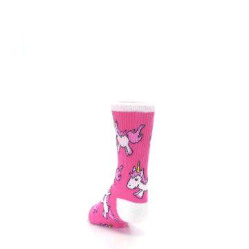 Image of Pink Unicorns Kid's Dress Socks (side-2-back-16)