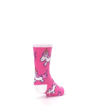 Image of Pink Unicorns Kid's Dress Socks (side-1-back-21)