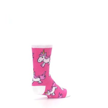 Image of Pink Unicorns Kid's Dress Socks (side-1-back-22)