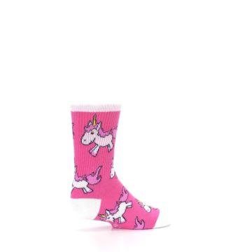 Image of Pink Unicorns Kid's Dress Socks (side-1-23)