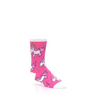 Image of Pink Unicorns Kid's Dress Socks (side-1-26)