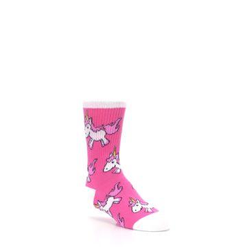 Image of Pink Unicorns Kid's Dress Socks (side-1-27)