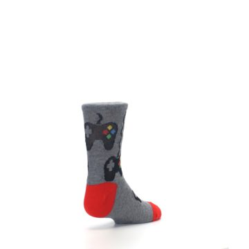 Image of Gray Video Game Controller Kid's Dress Socks (side-1-back-21)