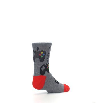 Image of Gray Video Game Controller Kid's Dress Socks (side-1-back-22)