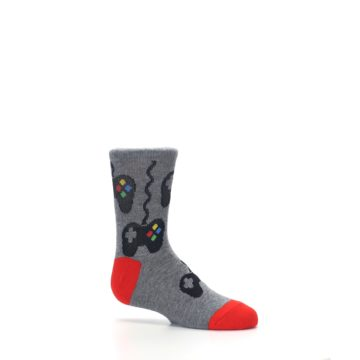 Image of Gray Video Game Controller Kid's Dress Socks (side-1-25)