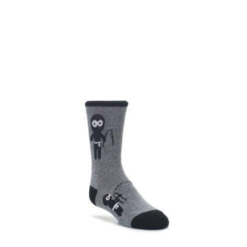 3-6Y-Gray-Ninja-Warrior-Kids-Dress-Socks-K-Bell